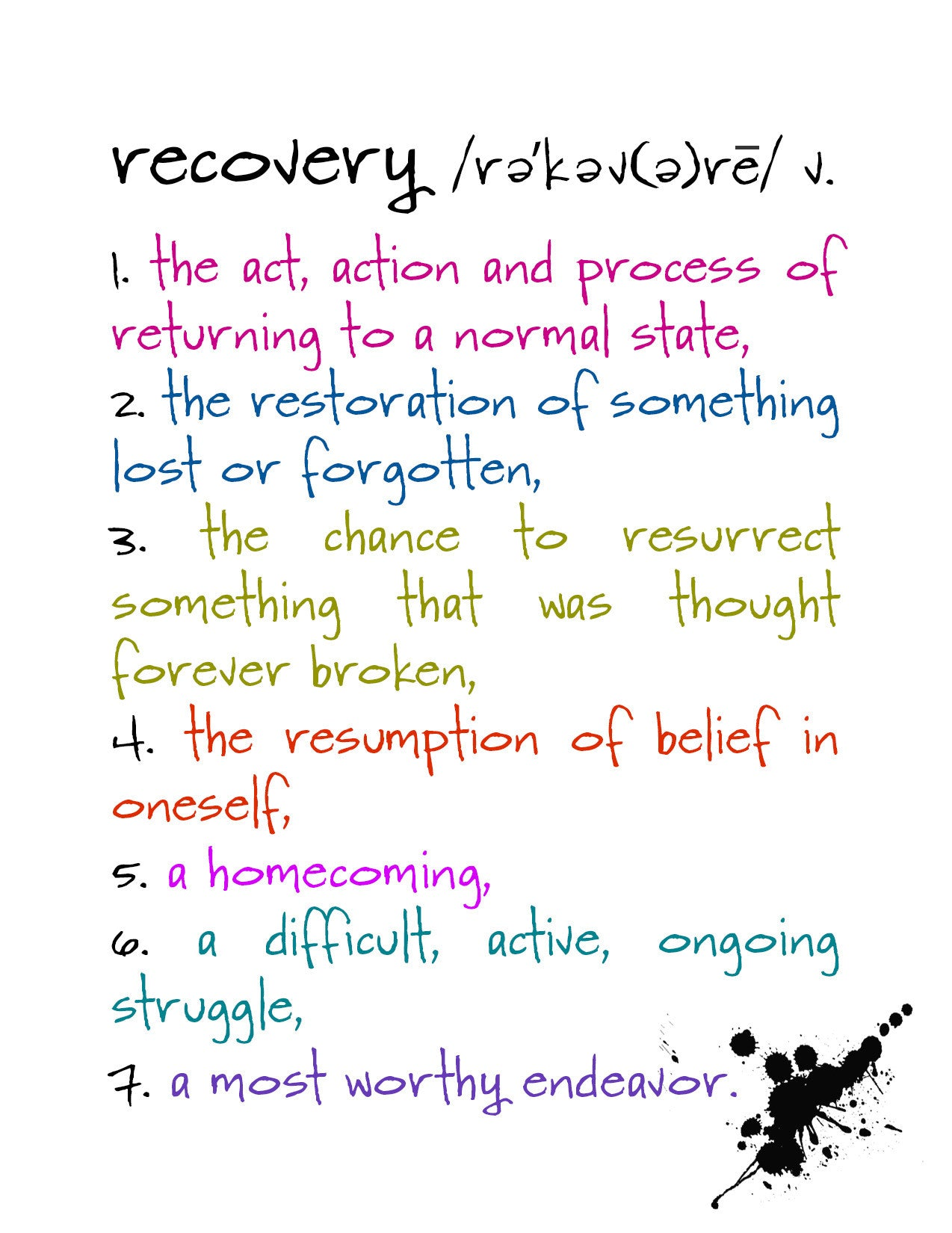 Recovery an encouragement and support card kat mariaca studio recovery an encouragement and support greeting card katmariacastudio 4 m4hsunfo