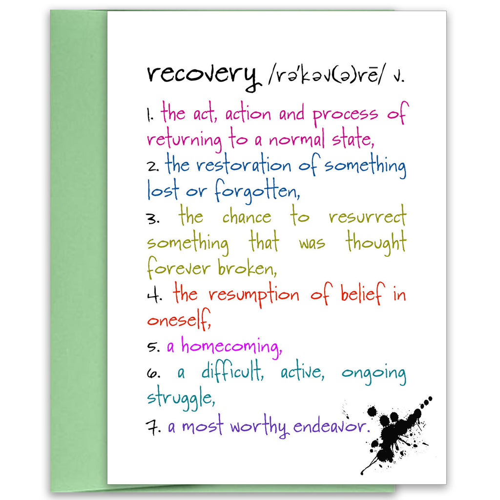 Recovery - an Encouragement and Support Greeting Card - KatMariacaStudio - 1