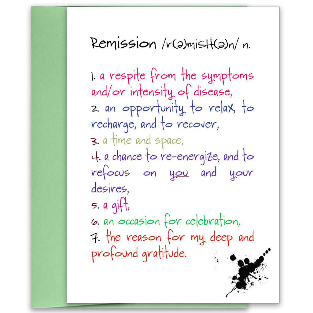 Remission - an Encouragement and Support Greeting Card - KatMariacaStudio - 1