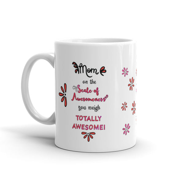 Scale of Awesomeness in Pink for Mom - Coffee Mug - KatMariacaStudio - 1