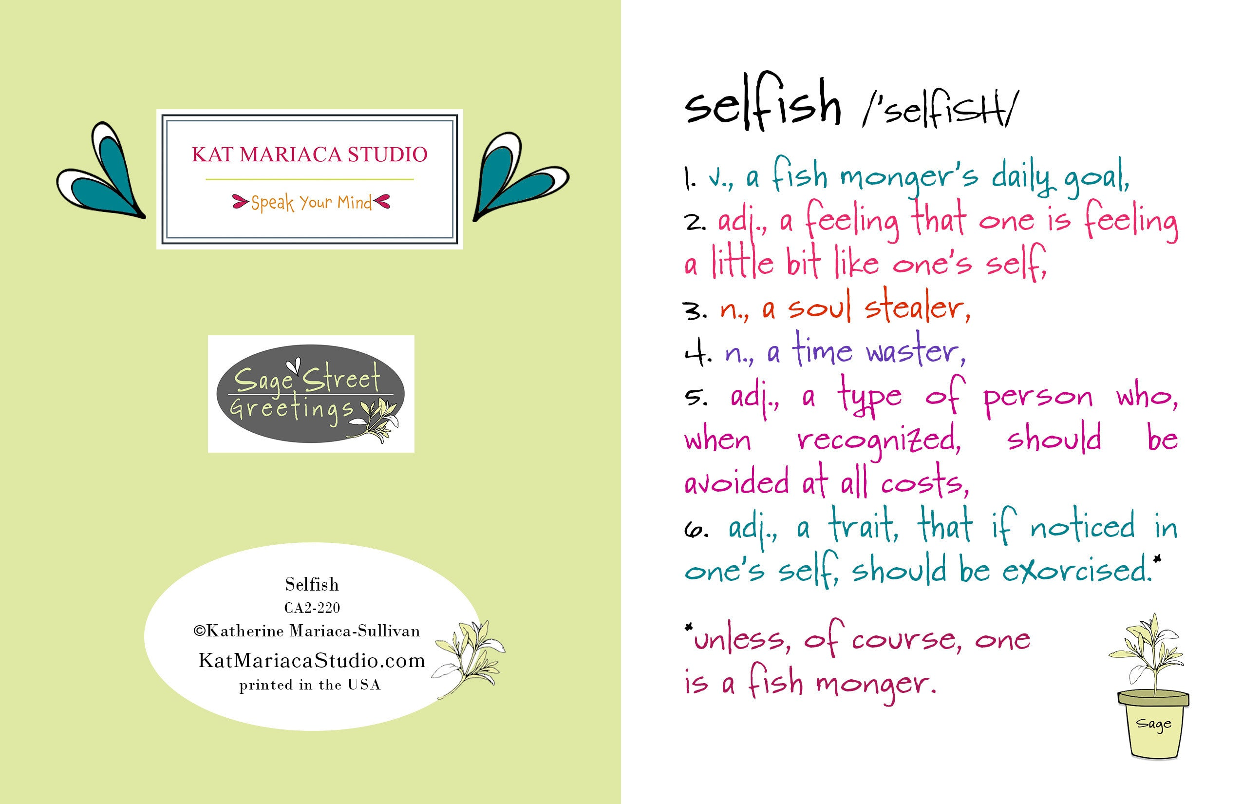 Selfish a funny relationship greeting card katmariacastudio selfish a funny relationship greeting card m4hsunfo