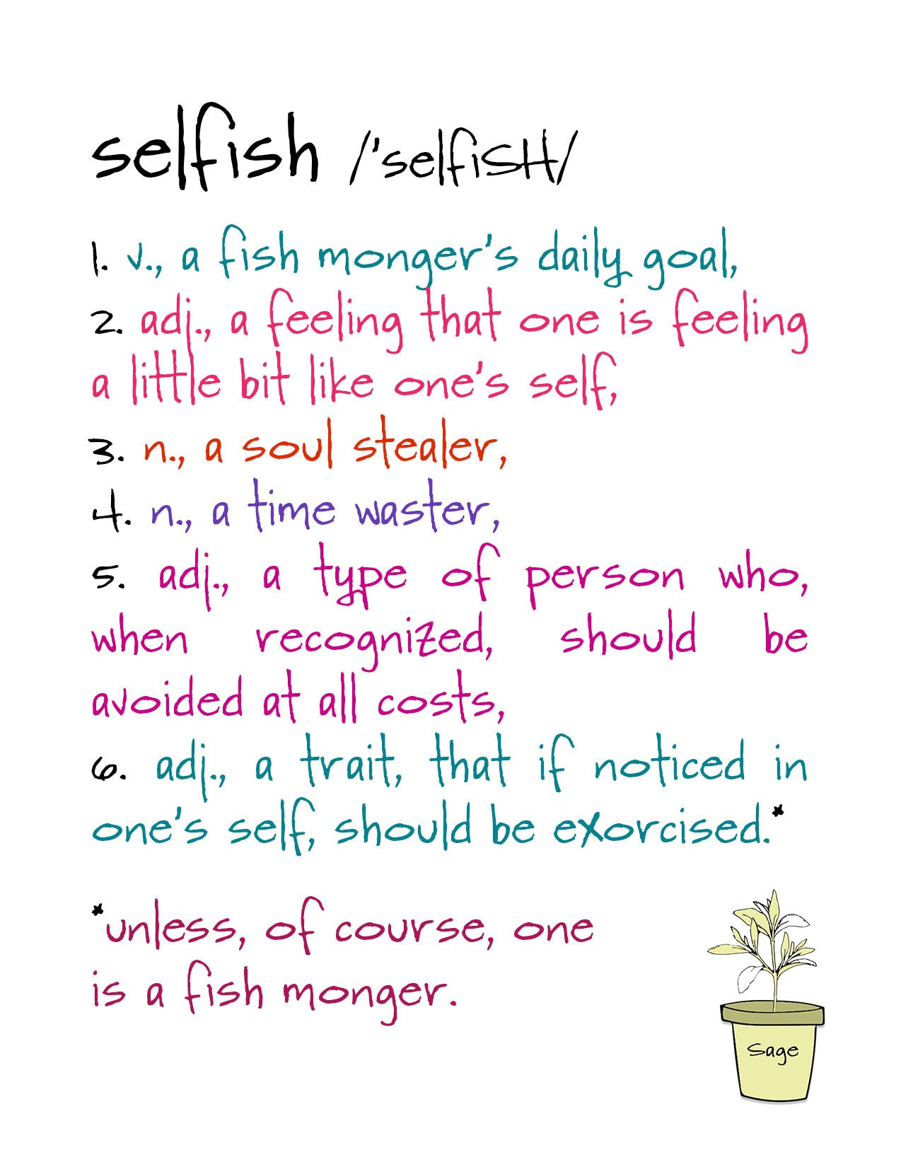 Selfish A Funny Relationship Greeting Card Katmariacastudio