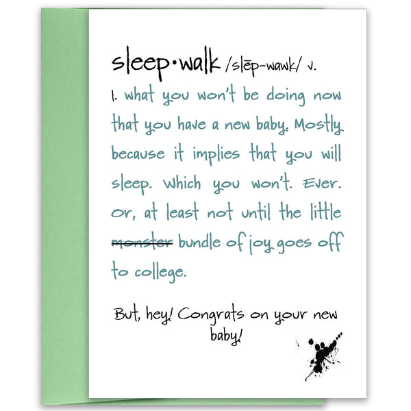 Maternity & New Baby Card - Sleepwalk - KatMariacaStudio - 1