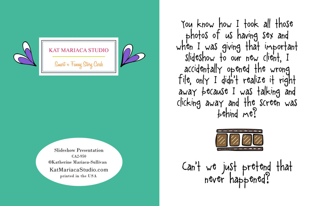 Funny Relationship Card - Slide Show Presentation - from Kat Mariaca Studio - KatMariacaStudio - 2