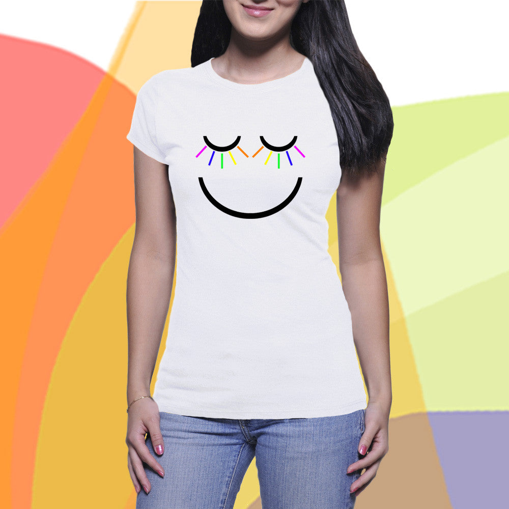 Women's T-shirt | The Boyfriend Tee | Smiley T-Shirt for Women | Happy Face Tee - KatMariacaStudio - 8