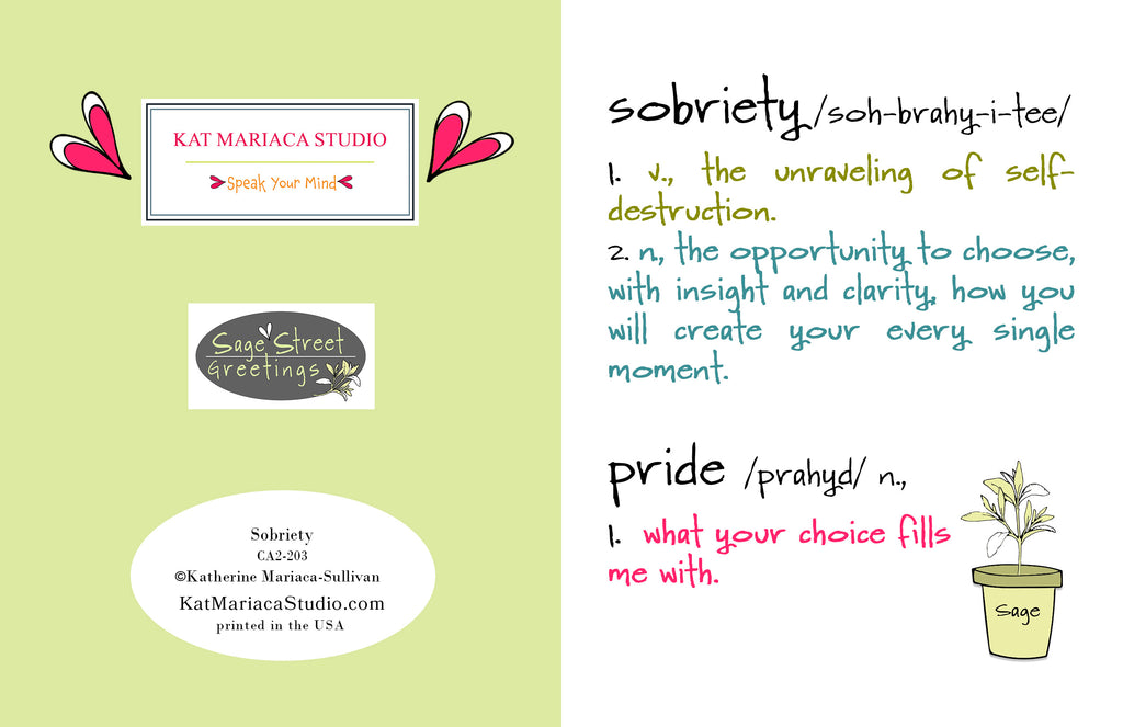 Sobriety - Congratulations on Sobriety Card - Staying Sober Encouragement Card