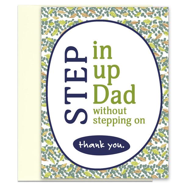 Step Up Dad - Appreciation Card for Step-Father