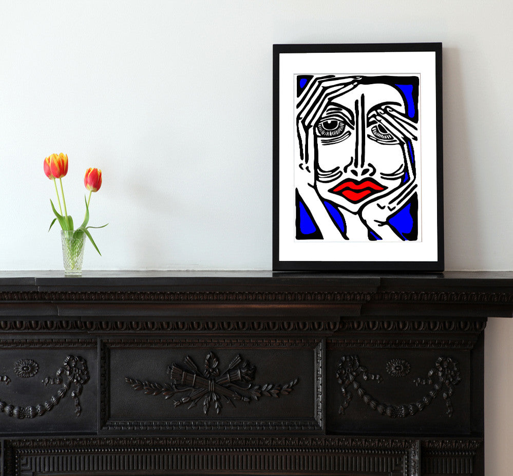 Sunday Afternoon - Matted Modern Art Print