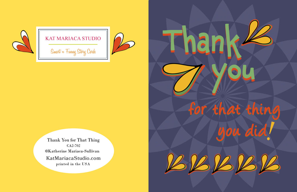 Thank You for That Thing You Did - Awesome Thank You Card - KatMariacaStudio - 2