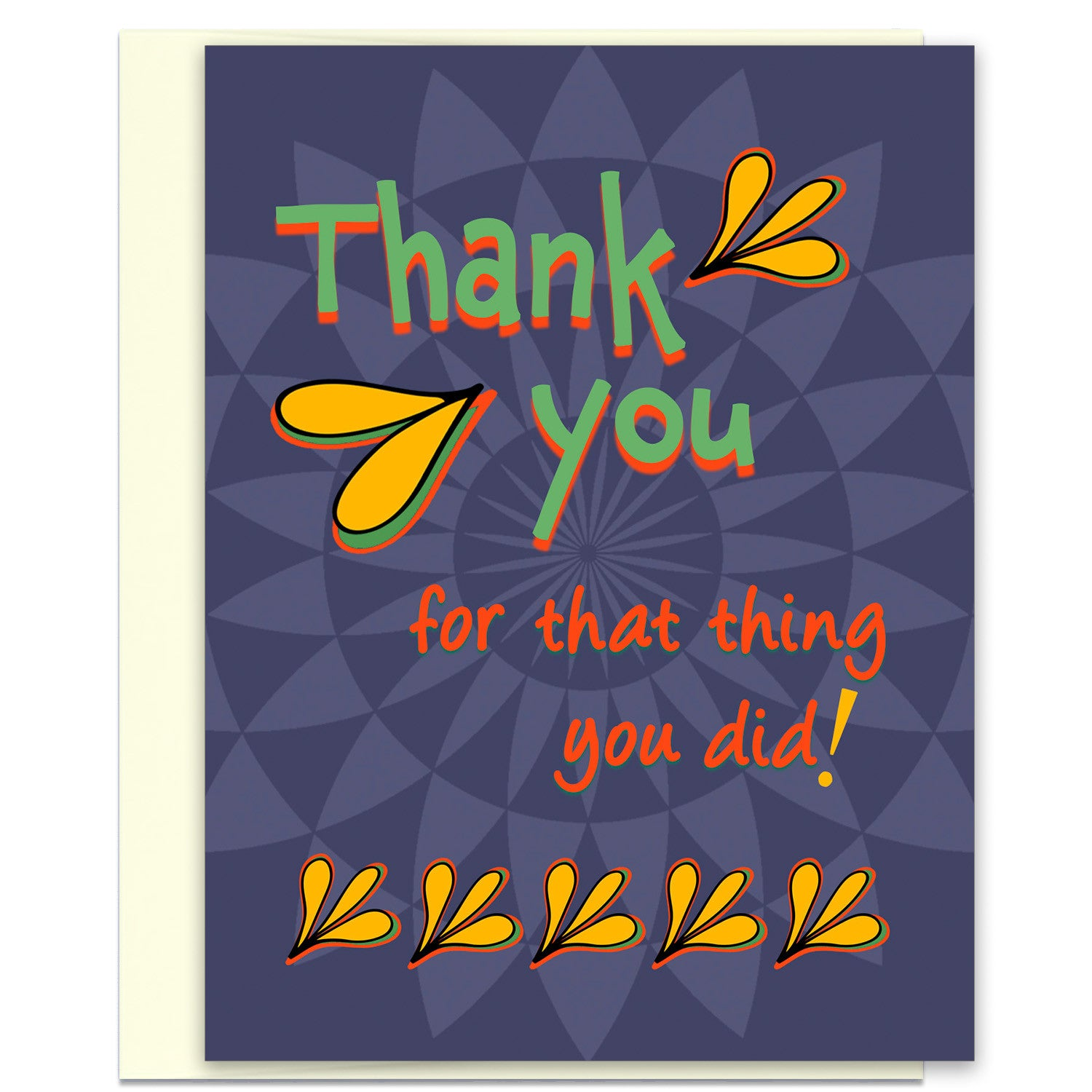 Thank You For That Thing You Did A Thank You Card Kat Mariaca