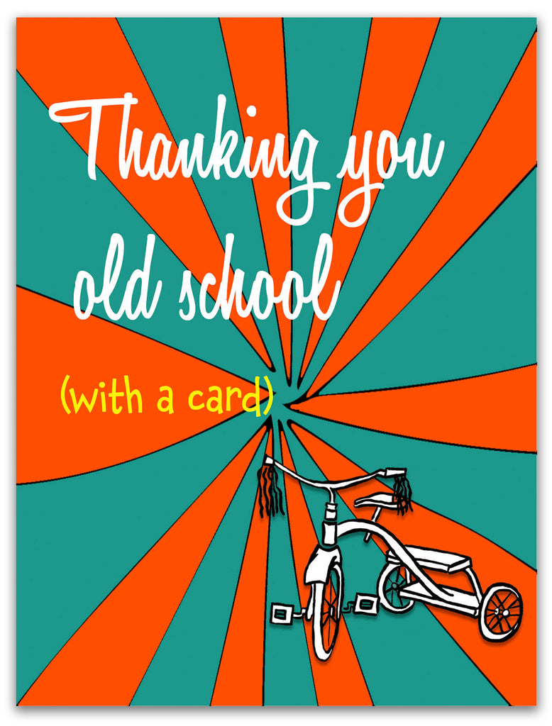 Thanking You Old School - Retro Thank You Card - KatMariacaStudio - 3