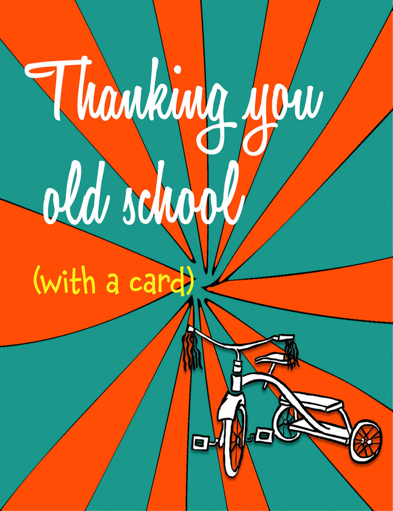 Thanking You Old School - Retro Thank You Card - KatMariacaStudio - 4