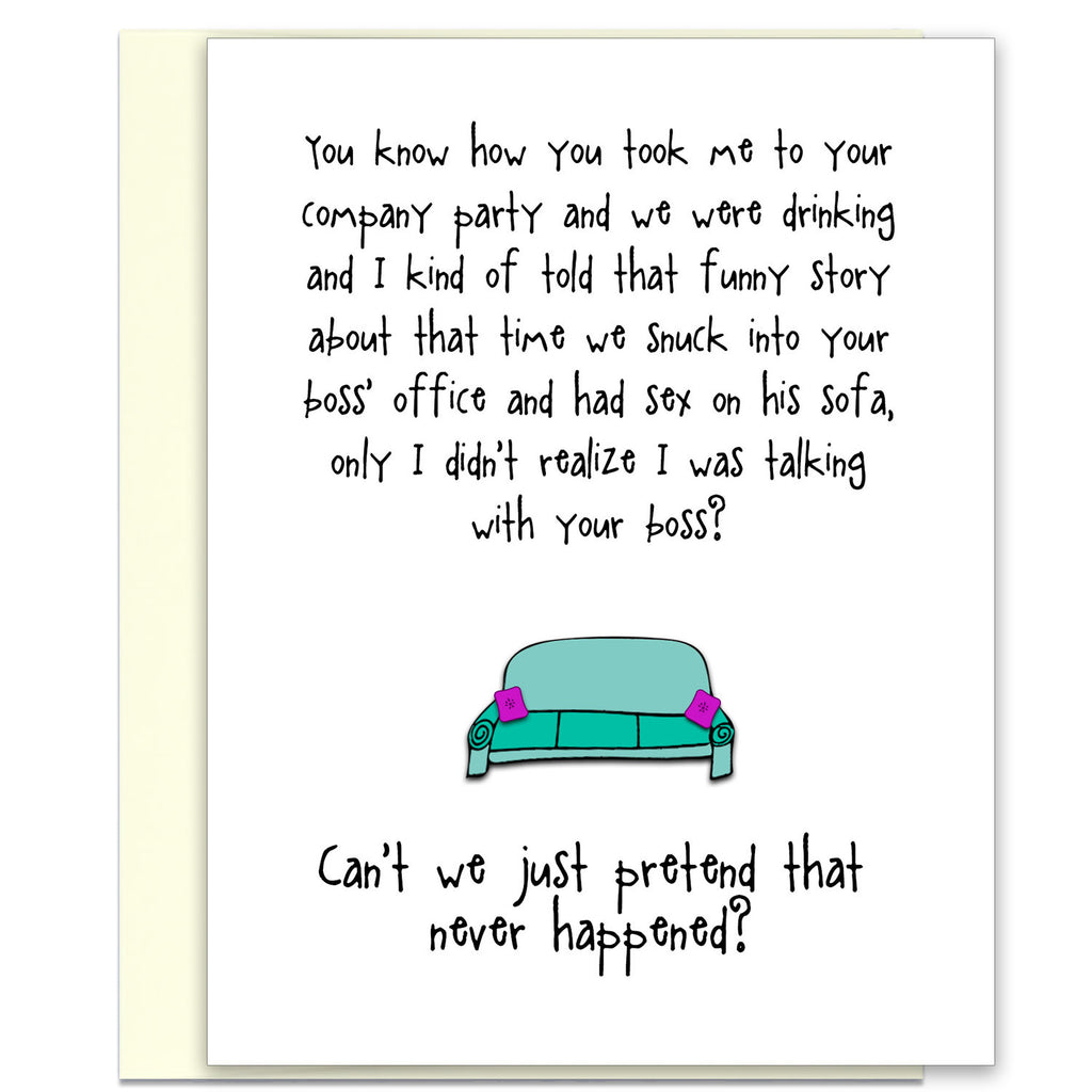 Funny Relationship Card - That Company Party - from Kat Mariaca Studio - KatMariacaStudio - 1