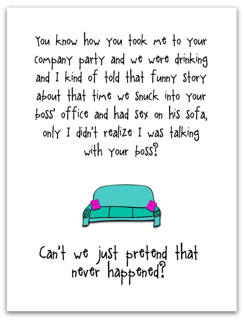 Funny Relationship Card - That Company Party - from Kat Mariaca Studio - KatMariacaStudio - 3