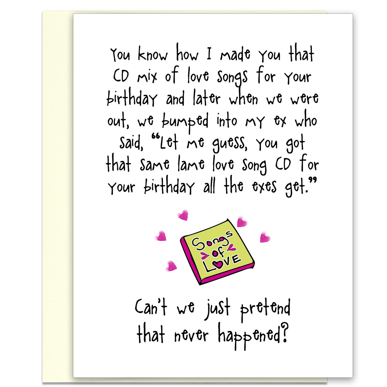 That Love Song CD - A Break Up Greeting Card