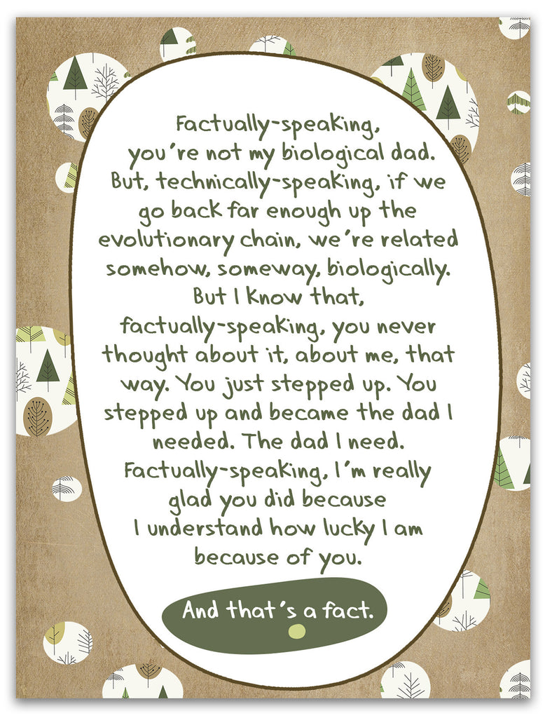 Stepfather Gift - Instant  Download - The Facts of Life - Printable Gift for Stepfather