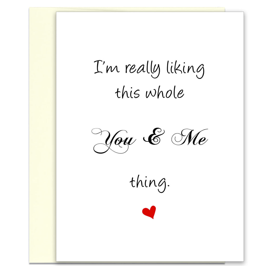 Love Card Anniversary Card - This You & Me Thing - KatMariacaStudio - 1