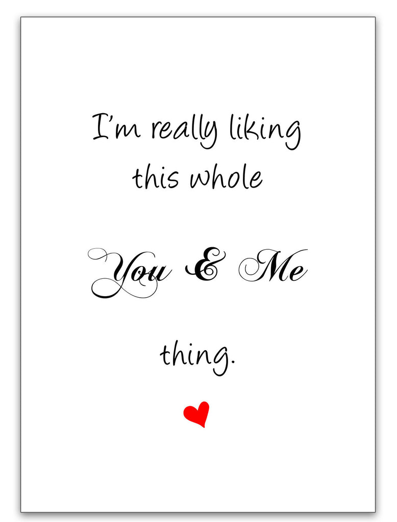 Love Card Anniversary Card - This You & Me Thing - KatMariacaStudio - 3