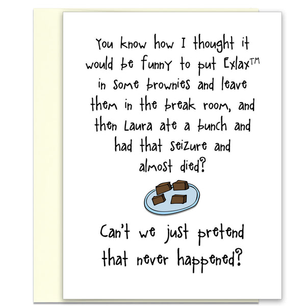 Twisted But Funny Card for Friends - Those Brownies - KatMariacaStudio - 1