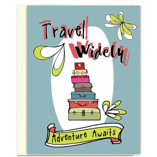 Travel Widely - Adventure Awairs - Travel & Adventure Card - KatMariacaStudio - 1
