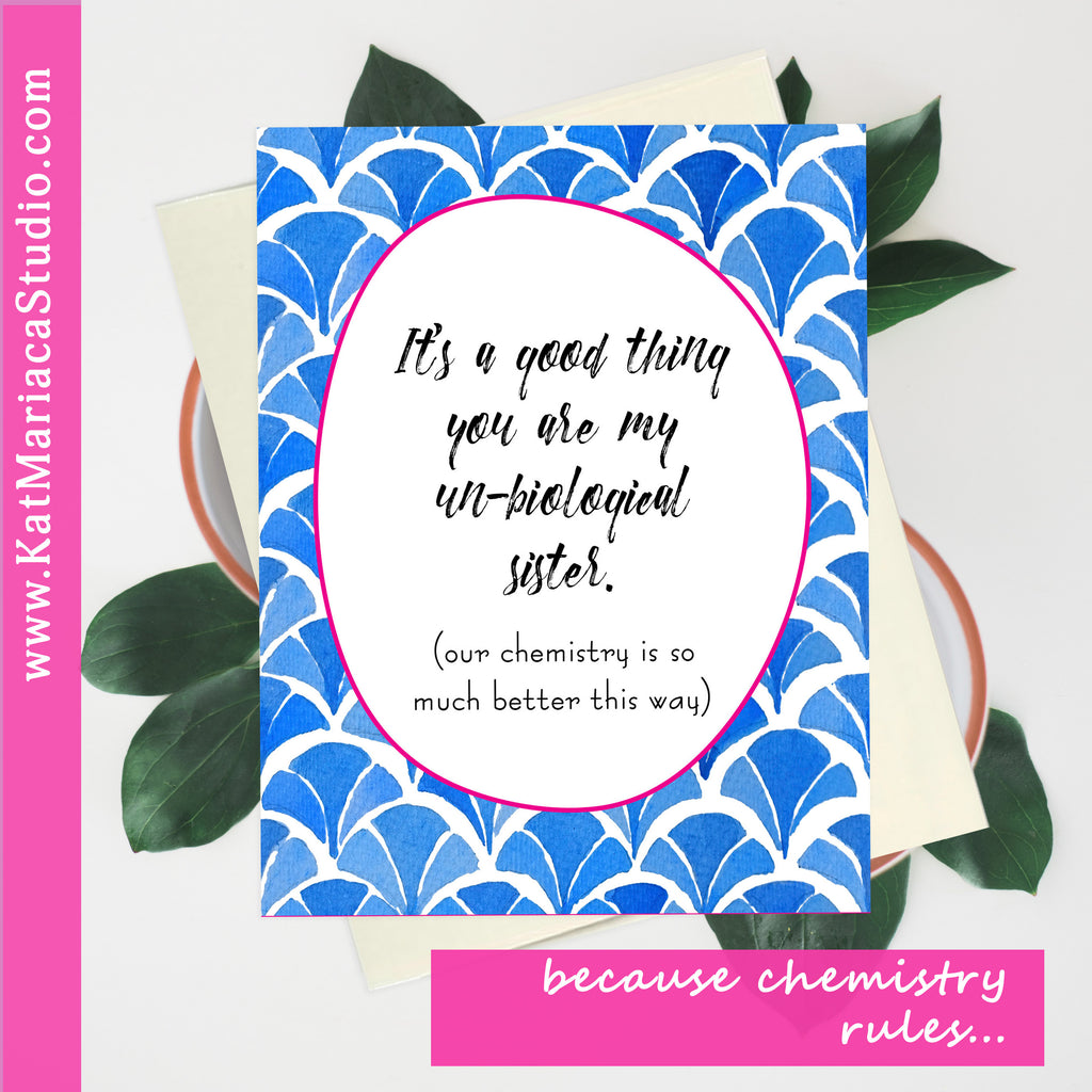 Instant Download - Un-Biological Sister - Printable Best Friend Gift
