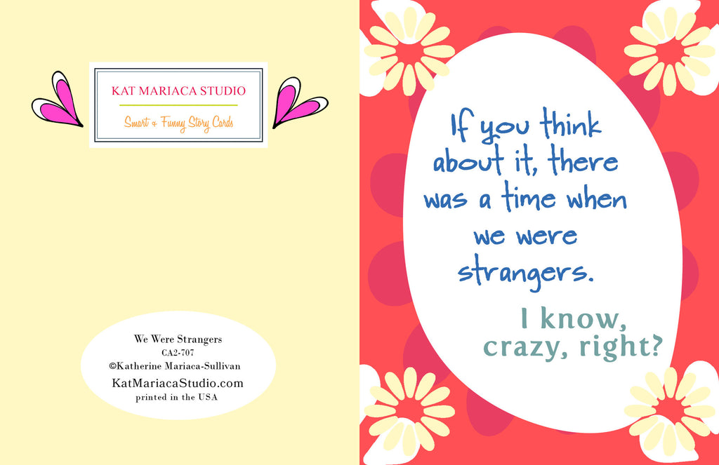 We Were Strangers - Relationship Card - KatMariacaStudio - 2