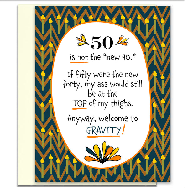 Funny Birthday Card - Welcome to Gravity - KatMariacaStudio - 1