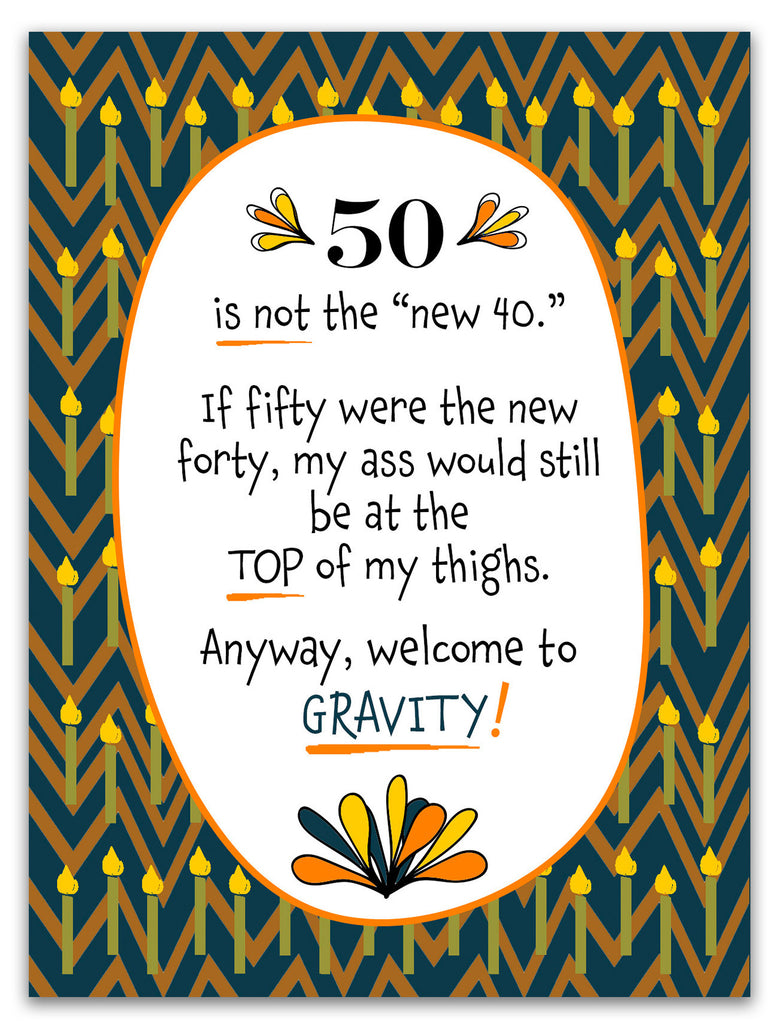 Funny Birthday Card - Welcome to Gravity - KatMariacaStudio - 3