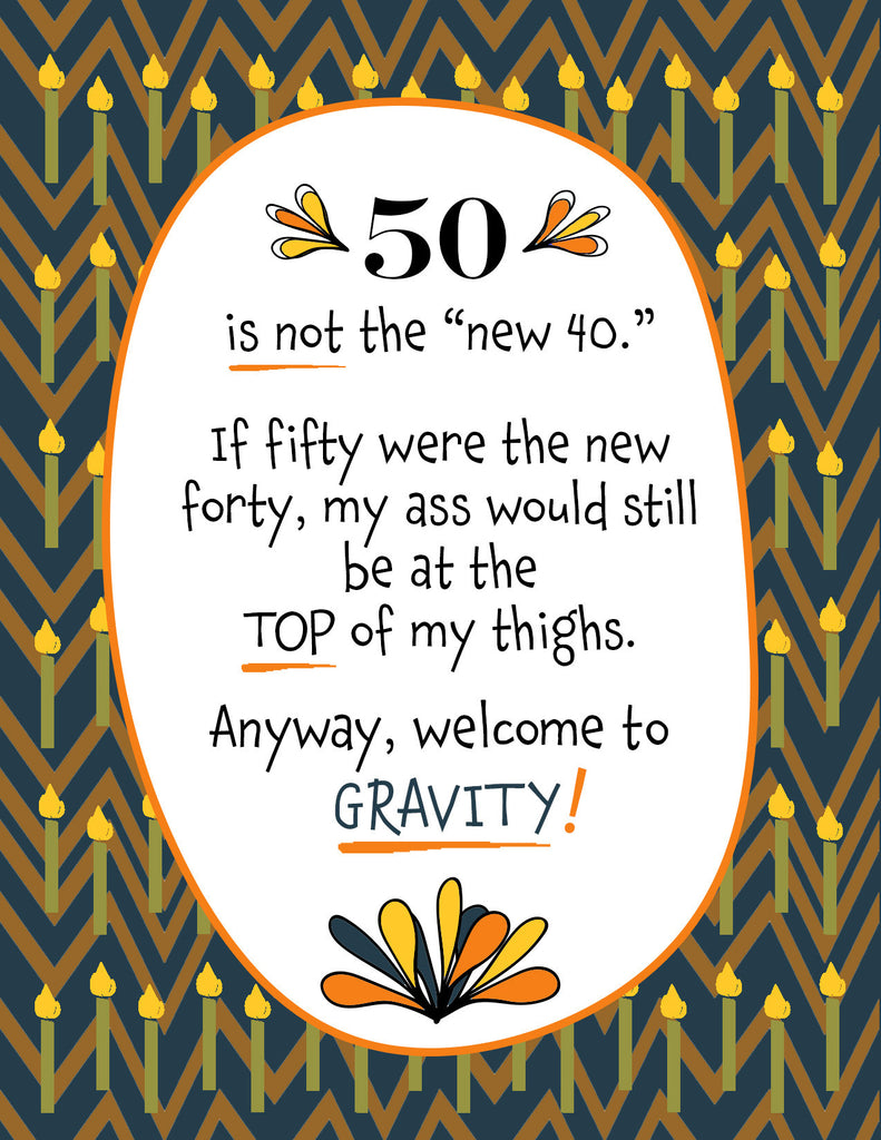 Funny Birthday Card - Welcome to Gravity - KatMariacaStudio - 4