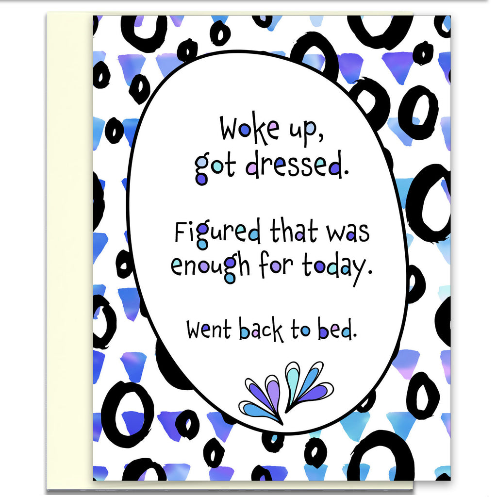 Card for Friends - Went Back to Bed - KatMariacaStudio - 1