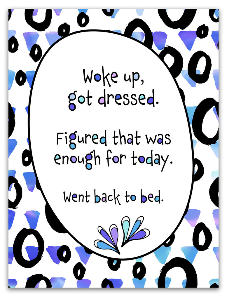 Card for Friends - Went Back to Bed - KatMariacaStudio - 3