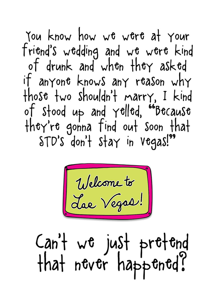 What Happens in Vegas - A Horrible Wedding Event Greeting Card - KatMariacaStudio - 4