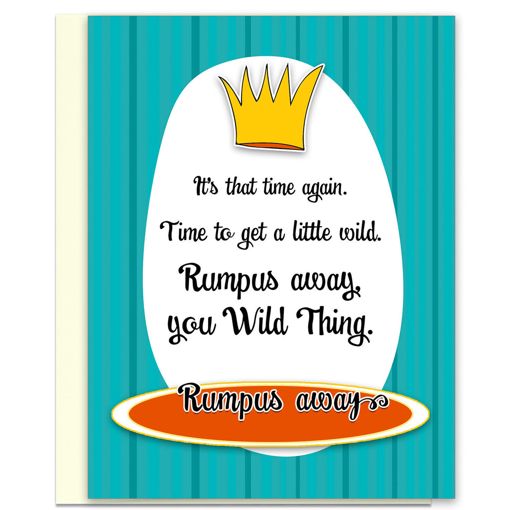 Wild Thing - Funny Birthday Card Rumpus - KatMariacaStudio - 1