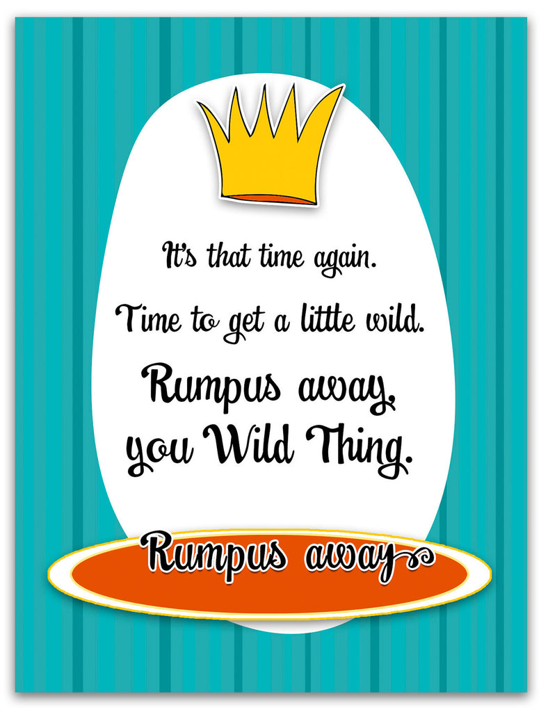 Wild Thing - Funny Birthday Card Rumpus - KatMariacaStudio - 3