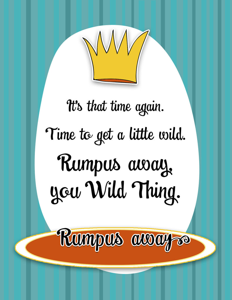 Wild Thing - Funny Birthday Card Rumpus - KatMariacaStudio - 4