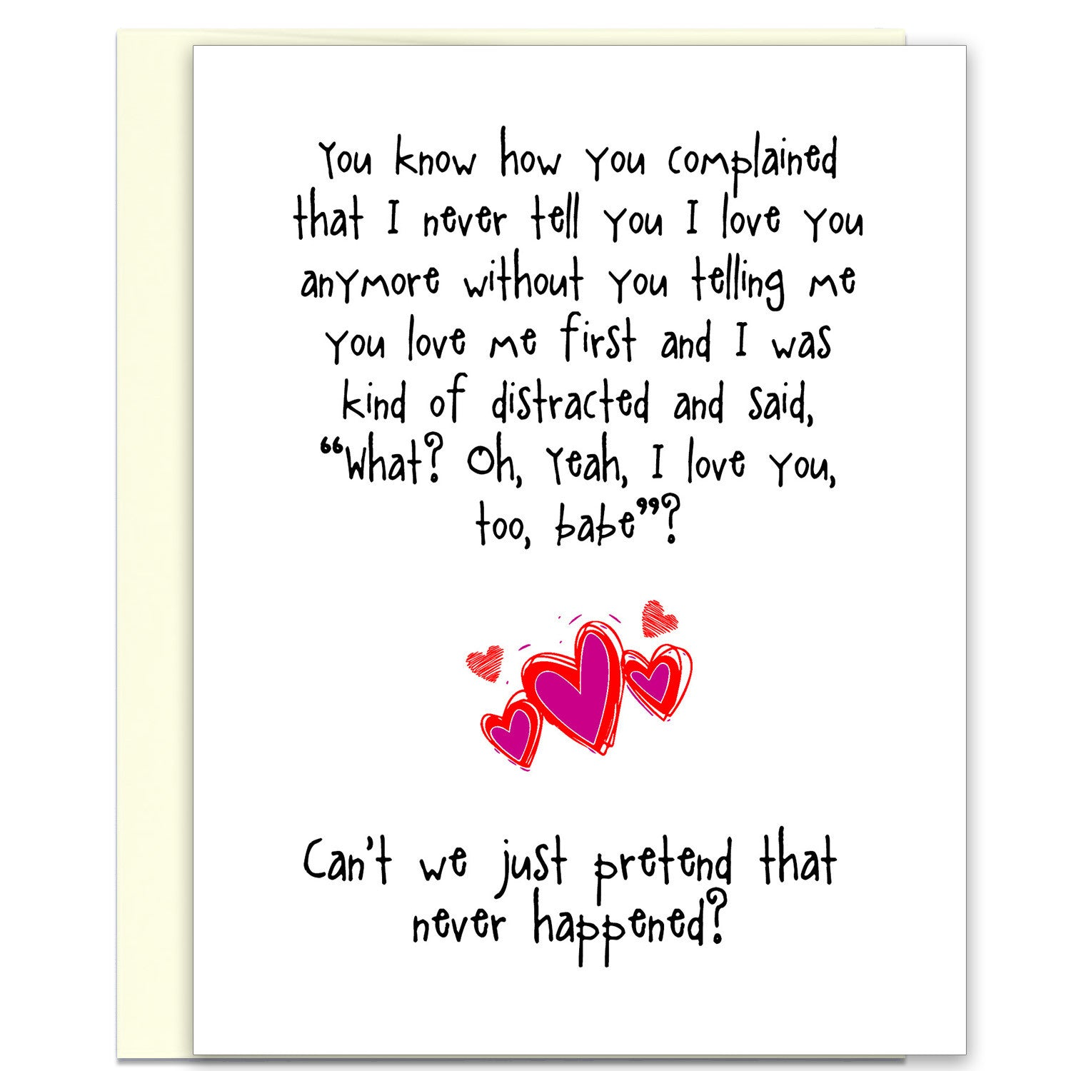 Funny Relationship Card - Words of Love - from Kat Mariaca Studio