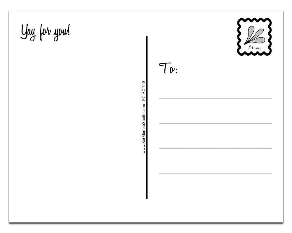Yay for You! | a Lazy Greetings (TM) Postcard - KatMariacaStudio - 4