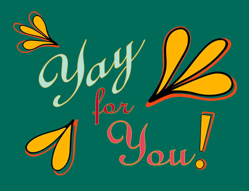Yay for You! | a Lazy Greetings (TM) Postcard - KatMariacaStudio - 2