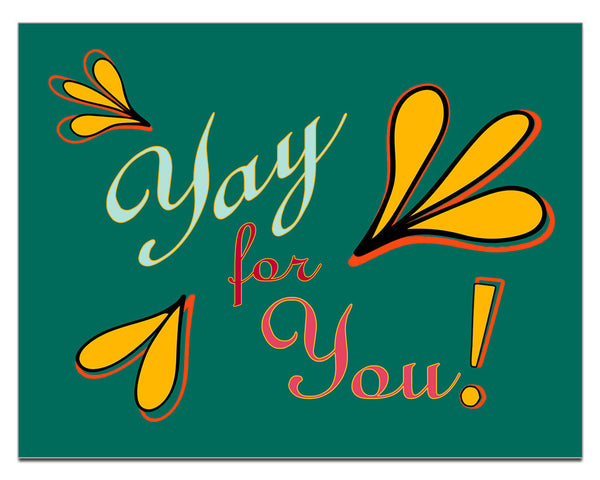 Yay for You! | a Lazy Greetings (TM) Postcard - KatMariacaStudio - 1