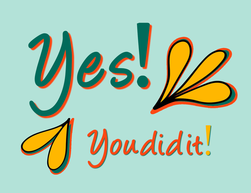 Yes! You Did It! | a Lazy Greetings (TM) Postcard - KatMariacaStudio - 2