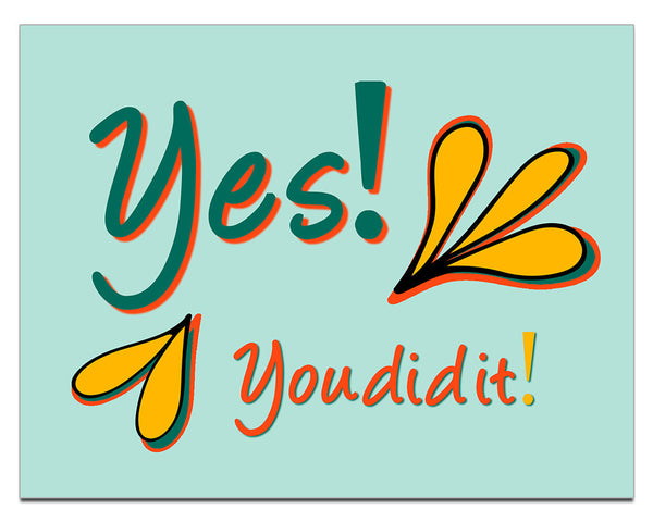 Yes! You Did It! | a Lazy Greetings (TM) Postcard - KatMariacaStudio - 1
