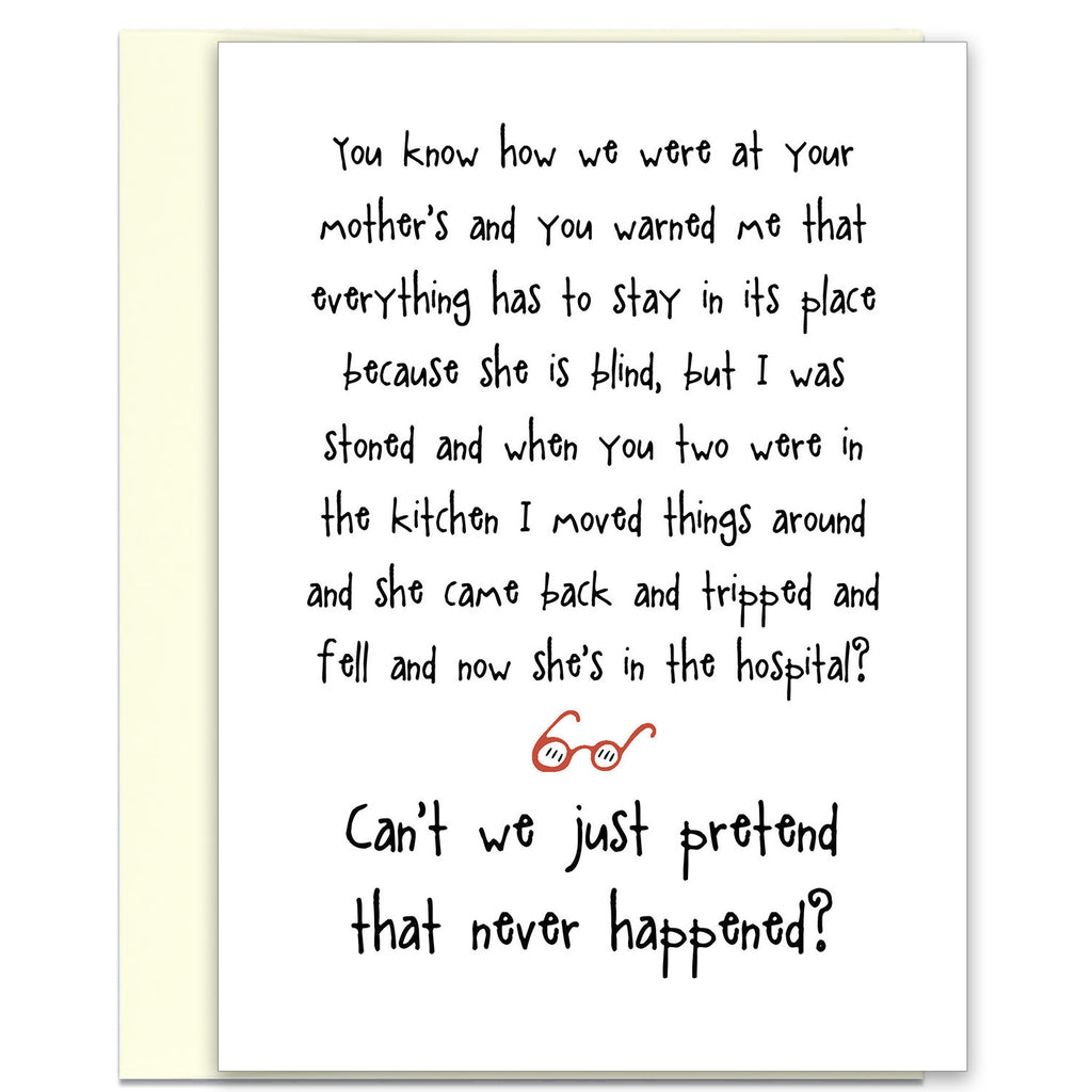 Hilarious Greeting Card - Your Mother's in the Hospital - KatMariacaStudio - 1