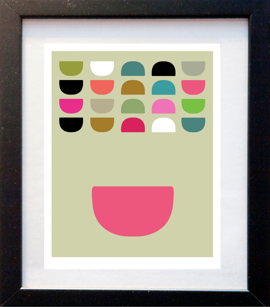 Bowls in Color - Matted Art Print - KatMariacaStudio - 3