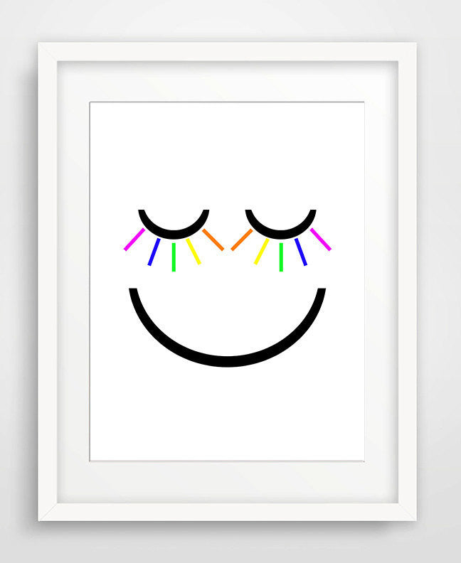 Smiley Face - Matted Art Print - KatMariacaStudio - 1