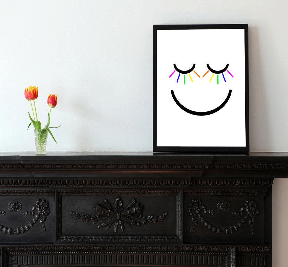 Smiley Face - Matted Art Print - KatMariacaStudio - 2