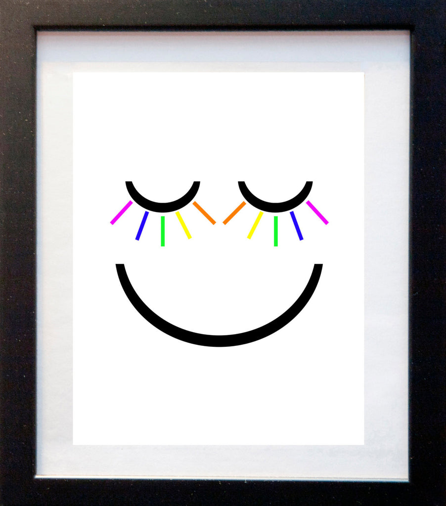Smiley Face - Matted Art Print - KatMariacaStudio - 3