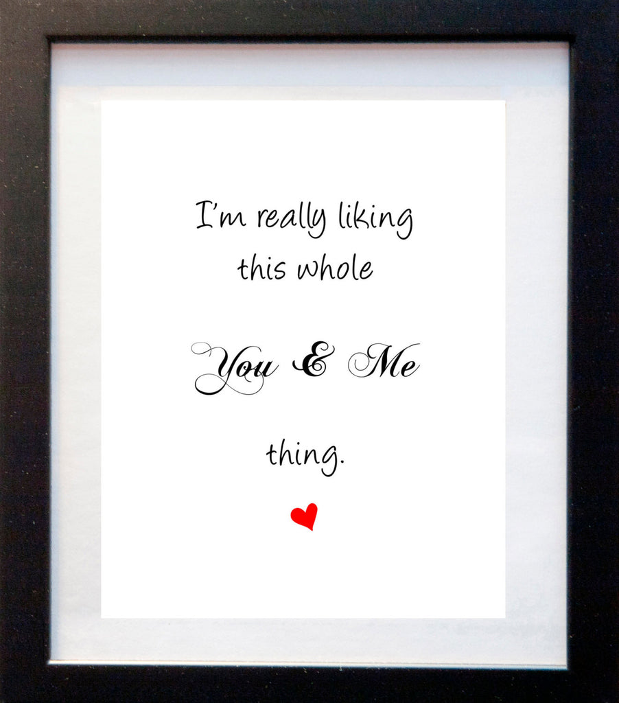 This You & Me Thing - Matted Art Print - KatMariacaStudio - 3