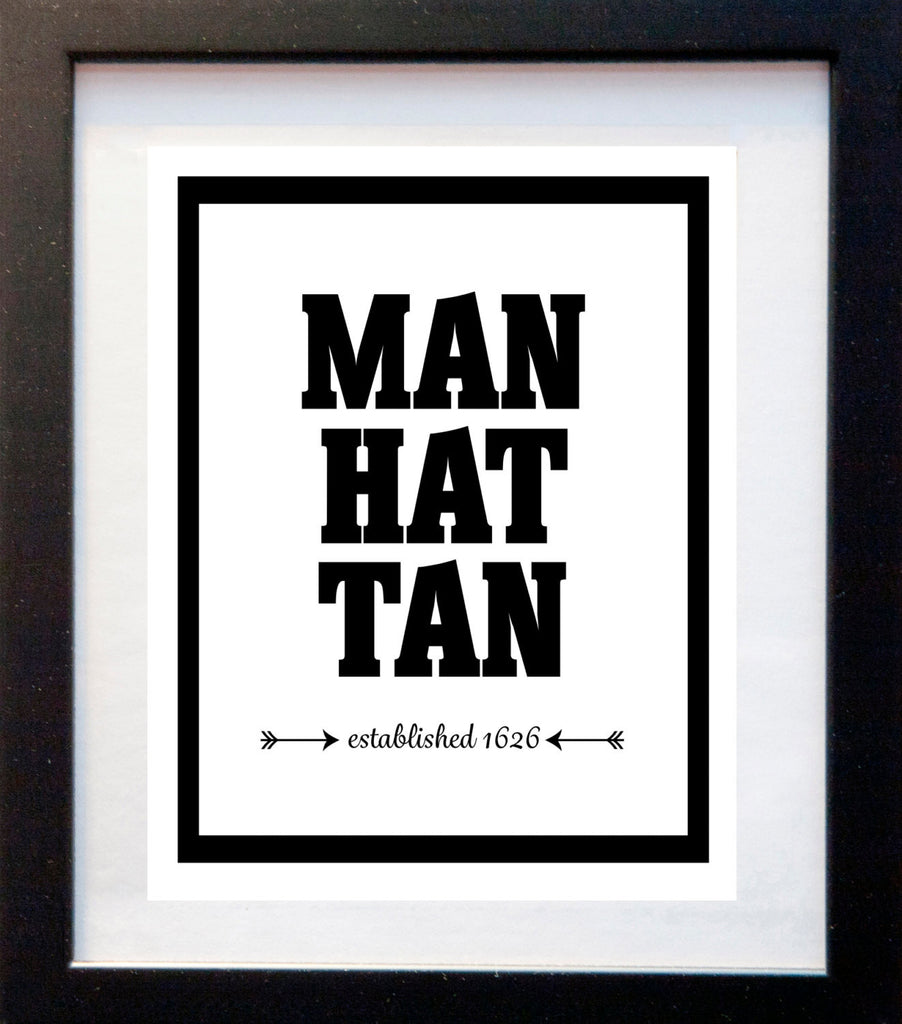 Manhattan - Established 1626 - Matted Art Print - KatMariacaStudio - 3