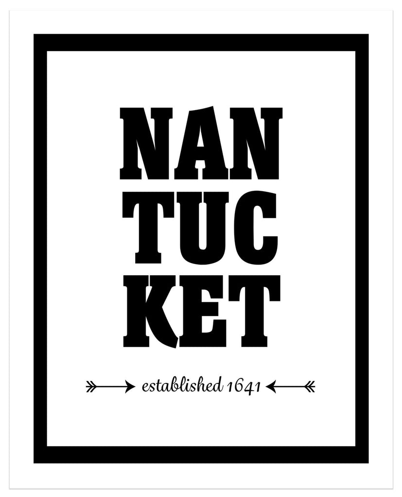 Nantucket - Established 1641 - Matted Art Print - KatMariacaStudio - 4