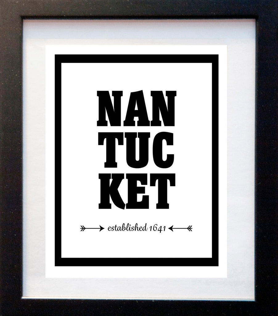 Nantucket - Established 1641 - Matted Art Print - KatMariacaStudio - 3